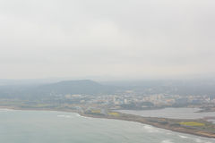Winter landscapes in Jeju Island. Korea stock photos