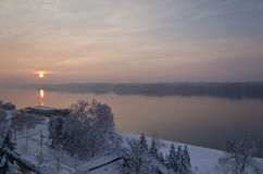 Winter landscapes near the city Ruse Royalty Free Stock Photo