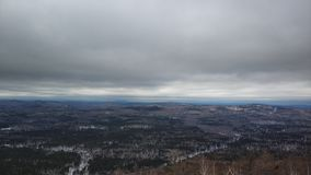 Winter landscapes in Urals cloudy day mountain Sugomak royalty free stock images