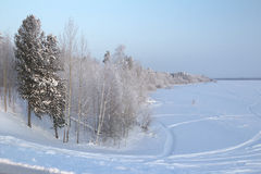 Winter-Landschaft. Stockfoto