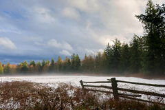 Winter-Landschaft auf Lummi-Insel stockfotos