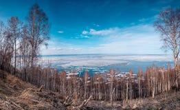 Winter-Landschaft, der Baikalsee Lizenzfreie Stockfotos