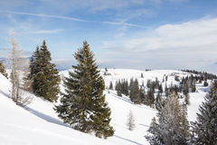Winter-Landschaft an Mt Dobratsch Lizenzfreies Stockfoto