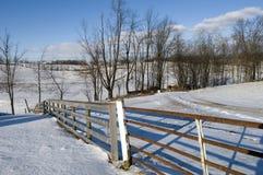 Winter-Landschaft in Ohio Lizenzfreies Stockbild
