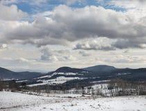 Winter-Landschaft Peacham Vermont lizenzfreie stockfotos