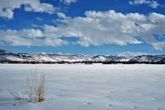 Winter-Landschaft in Utah - stockfotos