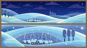Winter-Landschaften Lizenzfreie Stockfotos