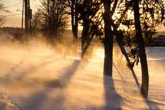 2017-Winter-Landschaftschneewehe Lizenzfreie Stockbilder