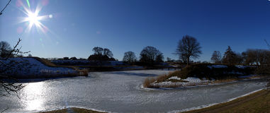 Winter in Landskrona. Panoramic photo from Landskrona in Sweden during winter month Stock Image