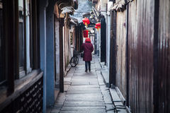 Winter lane has Chinese characteristics Royalty Free Stock Photo