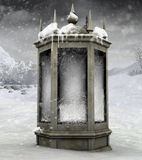 Winter lantern Stock Photography