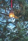 Winter lantern Stock Photos