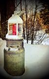 Winter lantern Royalty Free Stock Photography