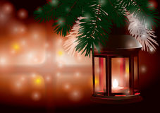 Winter lantern Stock Photos
