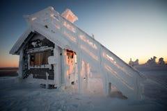 Winter in Lappland Finnland Stockfoto