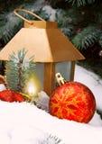 Winter latern. Royalty Free Stock Photo