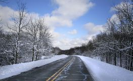 Winter-Laufwerk Stockbilder