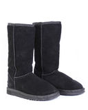 Winter leather boots Stock Image