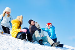 Winter leisure Stock Photo