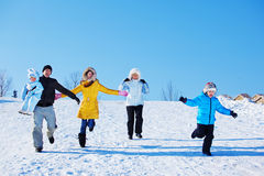 Winter leisure time Royalty Free Stock Photos