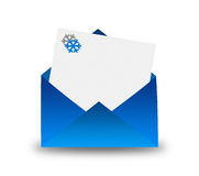 Winter letter in envelope Royalty Free Stock Image