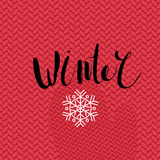 Winter lettering Stock Image