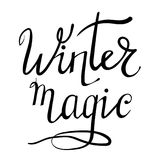 Winter Lettering on White Background Royalty Free Stock Images