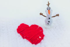 Winter-Liebe am Valentinsgruß-Tag Lizenzfreies Stockfoto