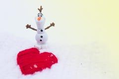 Winter-Liebe am Valentinsgruß-Tag Lizenzfreie Stockfotos