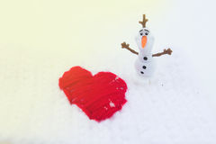 Winter-Liebe am Valentinsgruß-Tag Lizenzfreie Stockfotografie