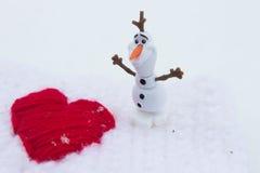 Winter-Liebe am Valentinsgruß-Tag Lizenzfreies Stockbild