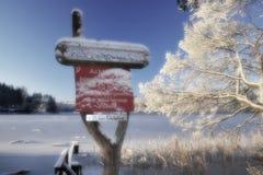 Winter am Liepnitzsee Stock Image