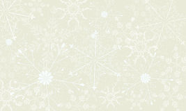 Winter light background with large snowflakes. Stock Photo