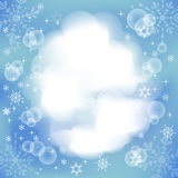 Winter light  background with place for text. Royalty Free Stock Images