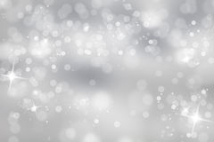 Winter light background with sparkle Royalty Free Stock Image