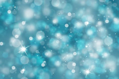 Winter light background with sparkle Royalty Free Stock Photo