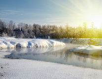 Winter light landscape Royalty Free Stock Image