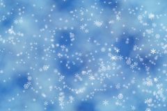 Winter lights background Stock Photography