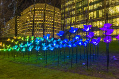Winter Lights Festival at Canary Wharf stock image