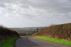 Winter in the Lincolnshire Wolds,UK Stock Photography