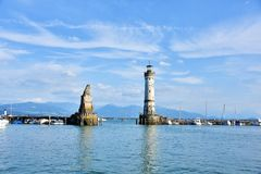 Winter in Lindau am Bodensee. Beautiful  winter view from one amazing town Royalty Free Stock Photo