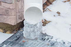 Winter lineated clogged with ice ice. Royalty Free Stock Photography