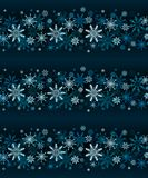 Winter lines vector seamless snowflakes on dark blue background royalty free illustration