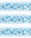Winter lines vector seamless snowflakes on light background.  stock photography