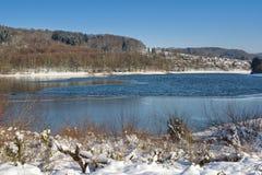 Lingese Reservoir,Sauerland,North Rhine westphalia,Germany. Winter at Lingese Reservoir in Sauerland region,North Rhine westphalia,Germany royalty free stock image