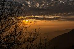 Winter-Linie sichtbar von den Bergen von Mussoorie Lizenzfreies Stockfoto