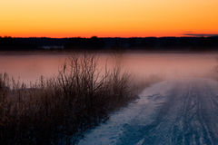 Winter in Lithuania Royalty Free Stock Photography
