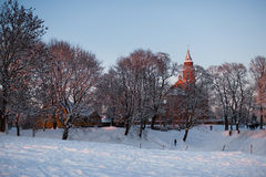 Winter in Lithuania Royalty Free Stock Image