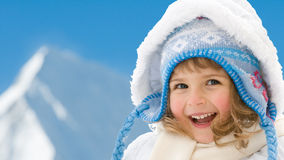 Winter little girl Stock Images