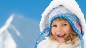Winter little girl Stock Images